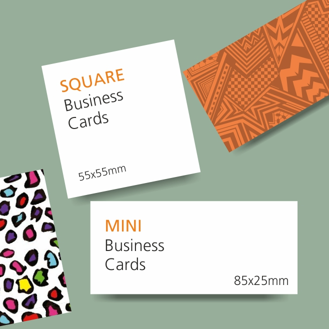 Business cards printing design your own luxury business cards in square and mini business cards reheart Image collections