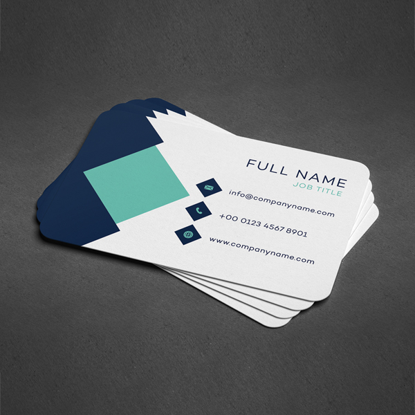 Multi name business cards single sided and square trimmed rounded corner business cards colourmoves Choice Image